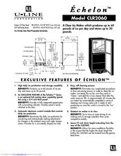 U-line CLR2060 Manuals