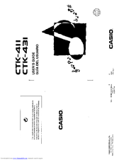 Casio CTK-411 Manuals