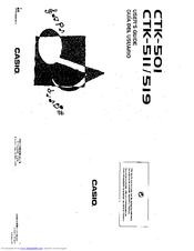 Casio CTK-511 Manuals