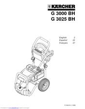 Karcher G 3025 BH Manuals
