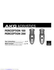 Akg PERCEPTION 200 Manuals