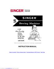 Singer SEWHANDY MODEL 40K Manuals