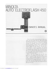 Minolta AUTO ELECTROFLASH 450 Manuals