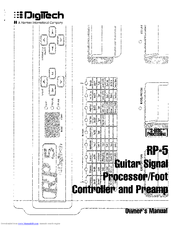 Manual For Digitech Rp50