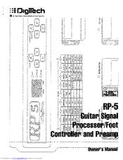 Digitech RP5 Manuals