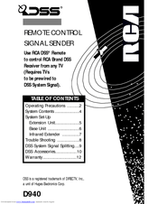 Rca D940 Manuals