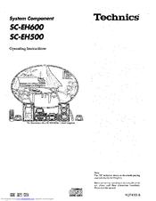 Technics SC-EH600 Manuals