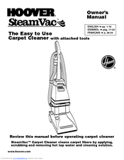 Hoover F5808 Owner's Manual (40 pages)