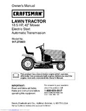 Craftsman 18.5 HP 917.273823 Manuals