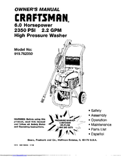 Craftsman 919.76235 Manuals