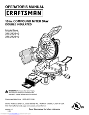 Craftsman 315.21234 Manuals