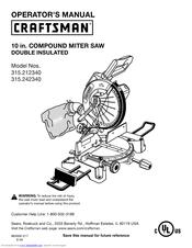 Craftsman 315.21234 Manuals