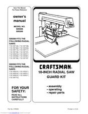 Craftsman 509399 Manuals