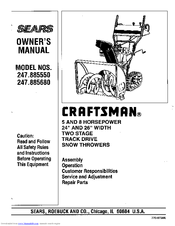 Craftsman 247.885680 Manuals