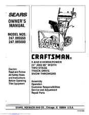 Craftsman 247.885680 Manuals