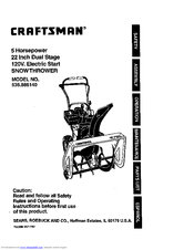 Craftsman 536.88614 Manuals