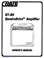 Crate GT80 Owner's Manual (12 pages)