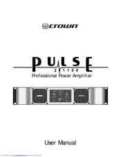Crown Pulse 21100 Manuals