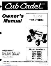 Cub Cadet 1812 (784) Manuals