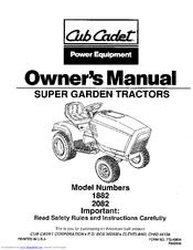 Cub Cadet 2082 Manuals