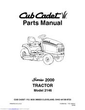Cub Cadet 2146 Manuals