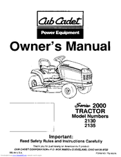 Cub Cadet 2135 Manuals