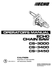 ECHO CS-3450 Manual