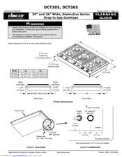 Dacor DCT305 Manuals