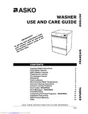 Asko W640 Manuals