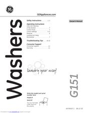 Ge GTWN5450DWW Manuals
