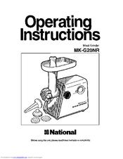 Panasonic MK-G20NR-W Manuals