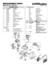 Chamberlain RSL12V Manuals