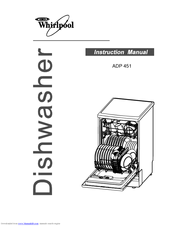 Whirlpool ADP 451 WH Instructions For Use Manual