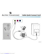 Altec Lansing VS-4121 Manuals