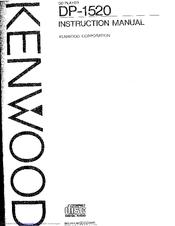 Kenwood DP-1520 Manuals