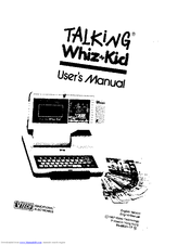 Vtech Talking Whiz Kid Manuals