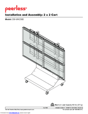 Nec Mobile Videowall Trolley PDVWM 2x2 46 55 L Manuals