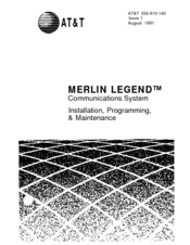 At&t MERLIN LEGEND Manuals
