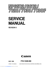 Canon NP6350 NP6251 Service & Repair Manual + Service