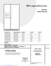 Frigidaire FRS26HF5A Parts Catalog (21 pages)