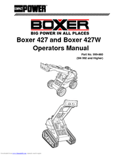 Cellboost BOXER 427W Operators Manuals