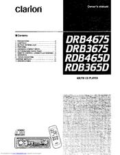 Clarion DRB4675 Manuals