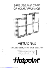 Hotpoint MISTRAL PLUS 8496 Manuals