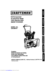 Craftsman 536.884791 Manuals
