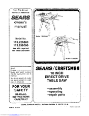 Craftsman 113.226880 Manuals