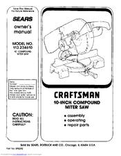 Craftsman 113.234610 Manuals