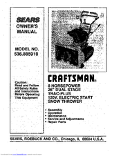 Craftsman 536.885910 Manuals