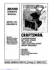Craftsman 536.885910 Manuals