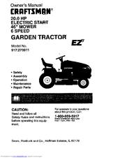 Craftsman 917.273011 Manuals