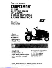 Craftsman EZ3 917.272190 Manuals